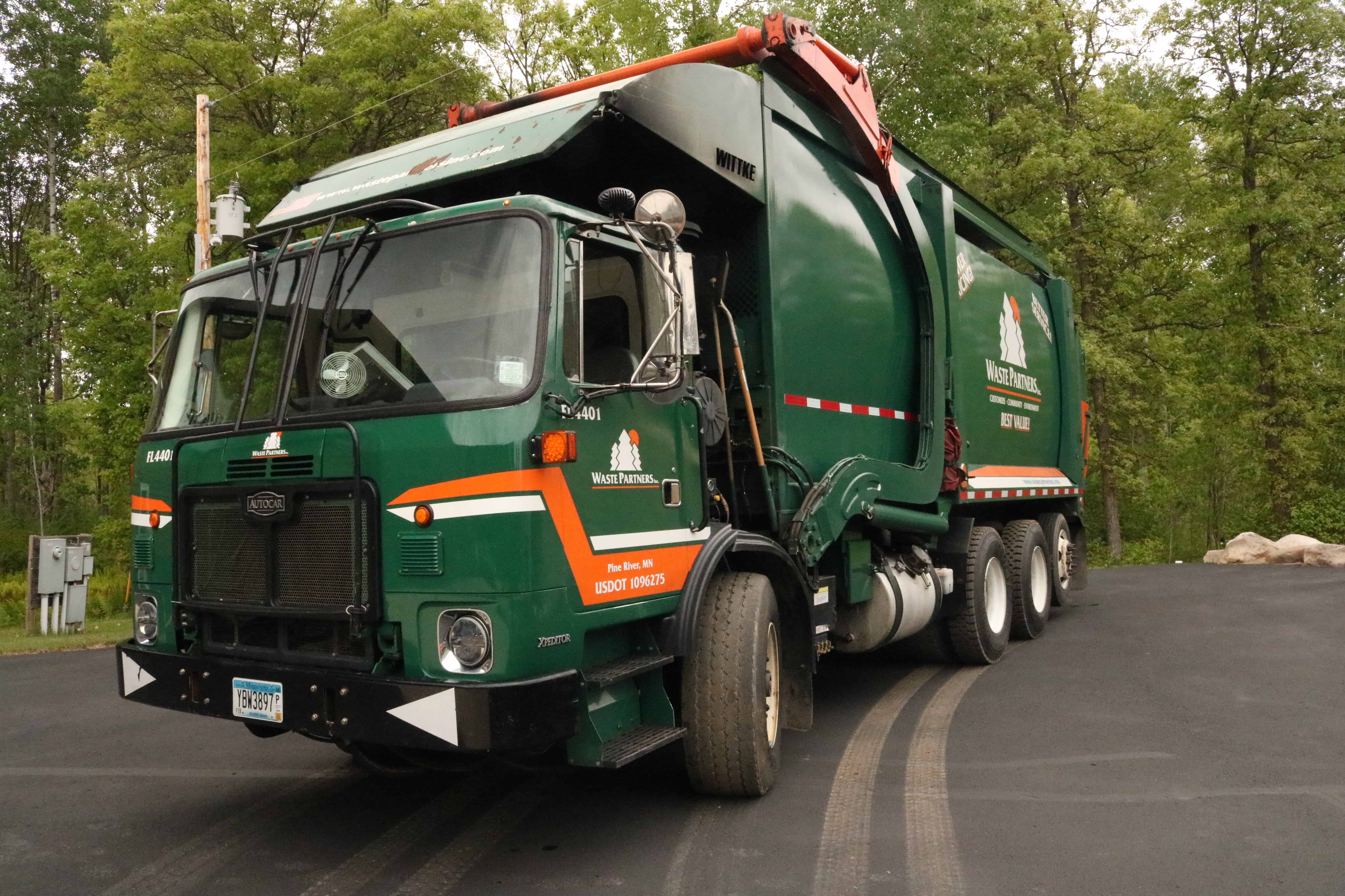 Request Services for Residential Recycling Truck Waste Partners