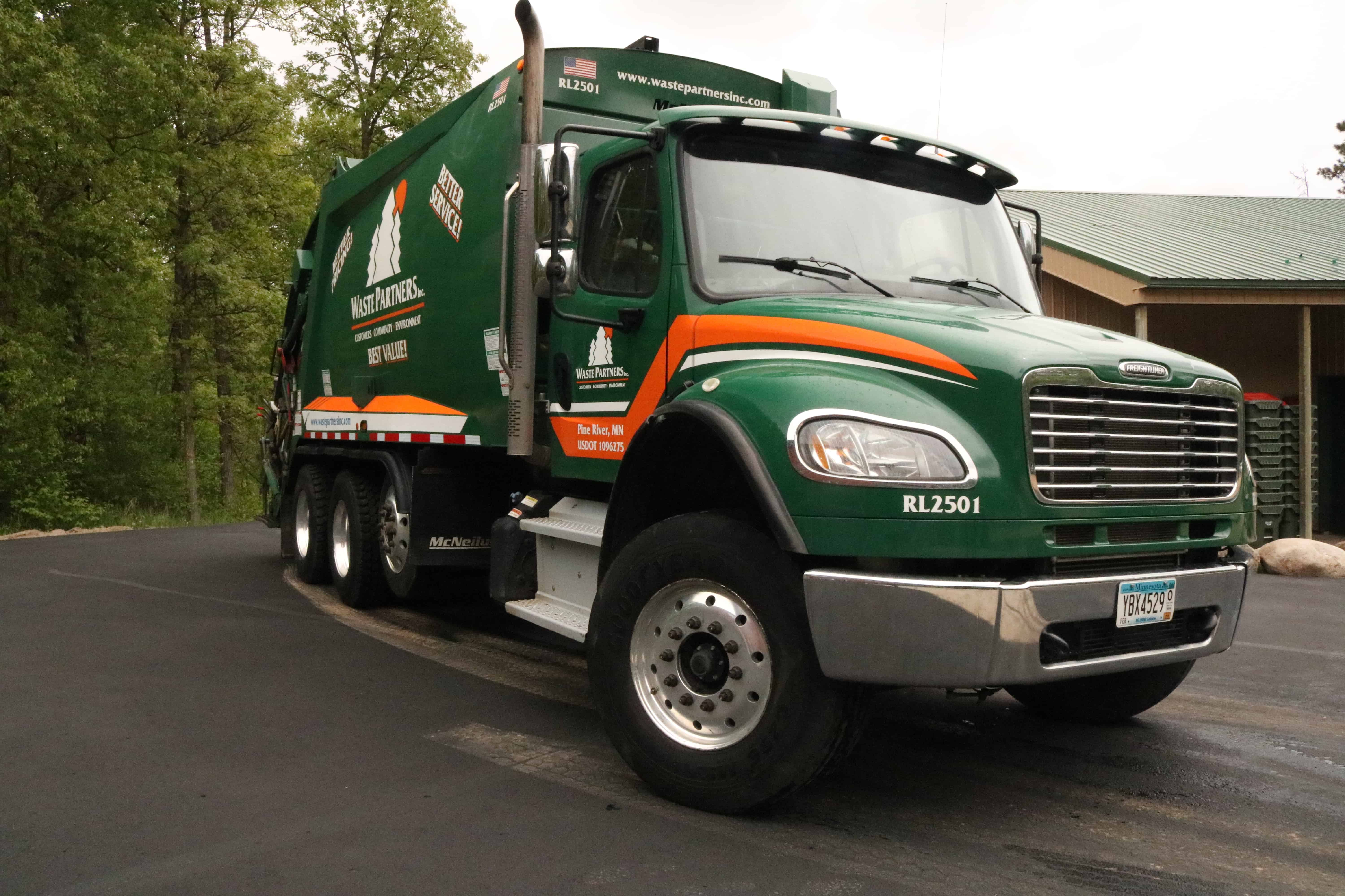 Waste Partners Garbage Truck on Property